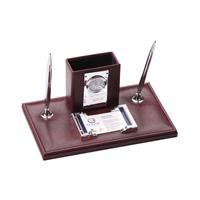 Masa Seti (Elit) (saatli, postitli , kartvizitlikli  / tükenmez ve dolma kalem,   kalemlik)